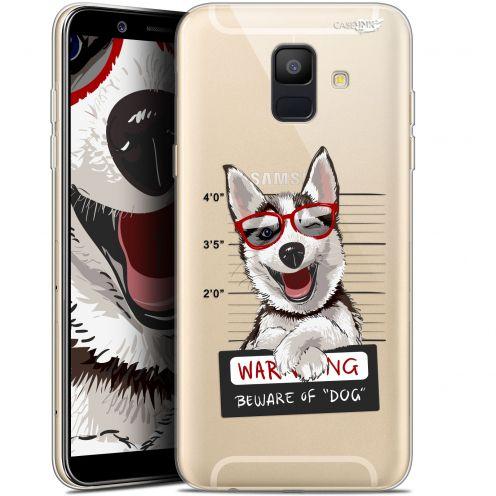 "Coque Gel Samsung Galaxy A6 2018 (5.45"") Extra Fine Motif -  Beware The Husky Dog"