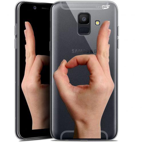 "Coque Gel Samsung Galaxy A6 2018 (5.45"") Extra Fine Motif -  Le Jeu du Rond"