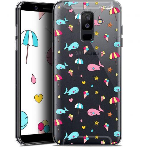 "Coque Gel Samsung Galaxy A6 PLUS 2018 (6"") Extra Fine Motif - Baleine à la Plage"