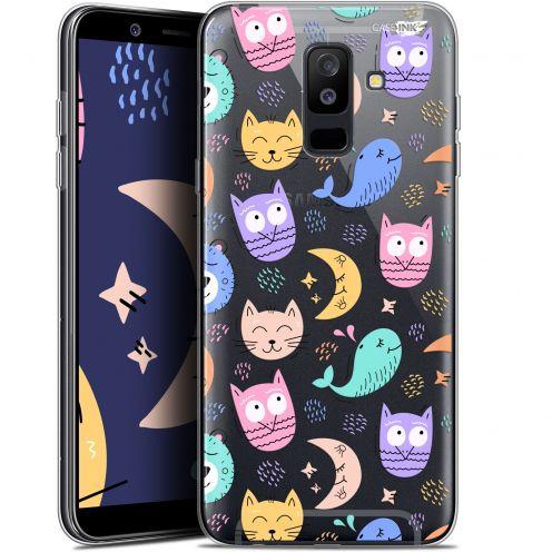 "Coque Gel Samsung Galaxy A6 PLUS 2018 (6"") Extra Fine Motif -  Chat Hibou"