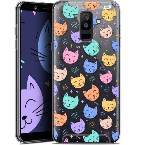 "Coque Gel Samsung Galaxy A6 PLUS 2018 (6"") Extra Fine Motif - Chat Dormant"