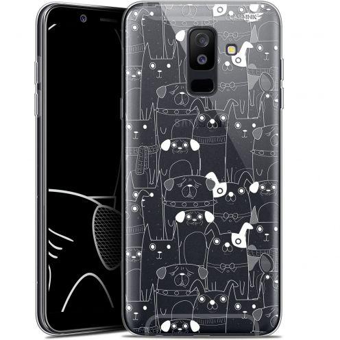 "Coque Gel Samsung Galaxy A6 PLUS 2018 (6"") Extra Fine Motif -  Chien Blanc"