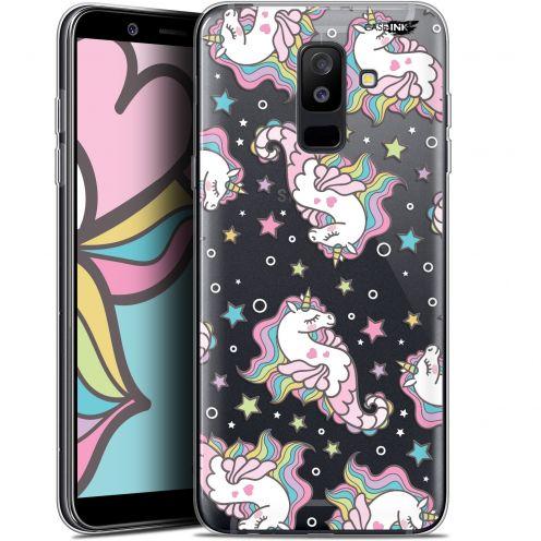"Coque Gel Samsung Galaxy A6 PLUS 2018 (6"") Extra Fine Motif -  Licorne Dormante"