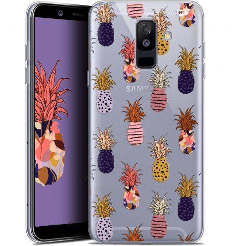 "Coque Gel Samsung Galaxy A6 PLUS 2018 (6"") Extra Fine Motif - Ananas Gold"