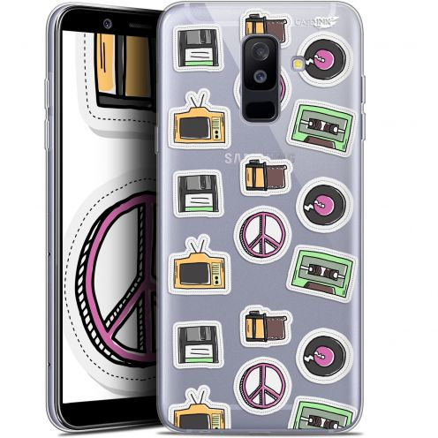 "Coque Gel Samsung Galaxy A6 PLUS 2018 (6"") Extra Fine Motif -  Vintage Stickers"