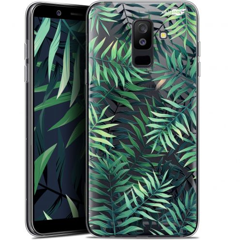 "Coque Gel Samsung Galaxy A6 PLUS 2018 (6"") Extra Fine Motif -  Feuilles des Tropiques"