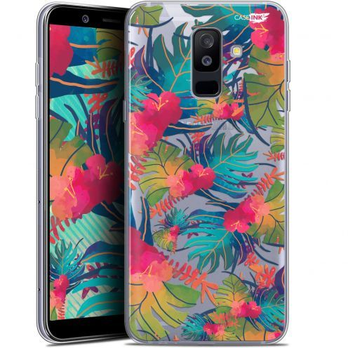 """Coque Gel Samsung Galaxy A6 PLUS 2018 (6"""") Extra Fine Motif -  Couleurs des Tropiques"""