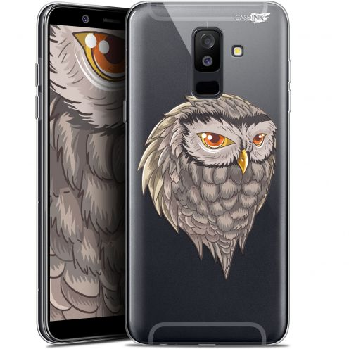 "Coque Gel Samsung Galaxy A6 PLUS 2018 (6"") Extra Fine Motif - Hibou Draw"