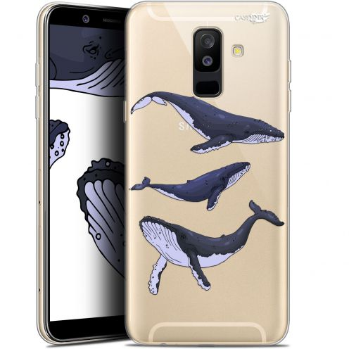 "Coque Gel Samsung Galaxy A6 PLUS 2018 (6"") Extra Fine Motif -  Les 3 Baleines"