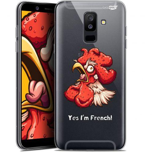 """Coque Gel Samsung Galaxy A6 PLUS 2018 (6"""") Extra Fine Motif -  I'm French Coq"""