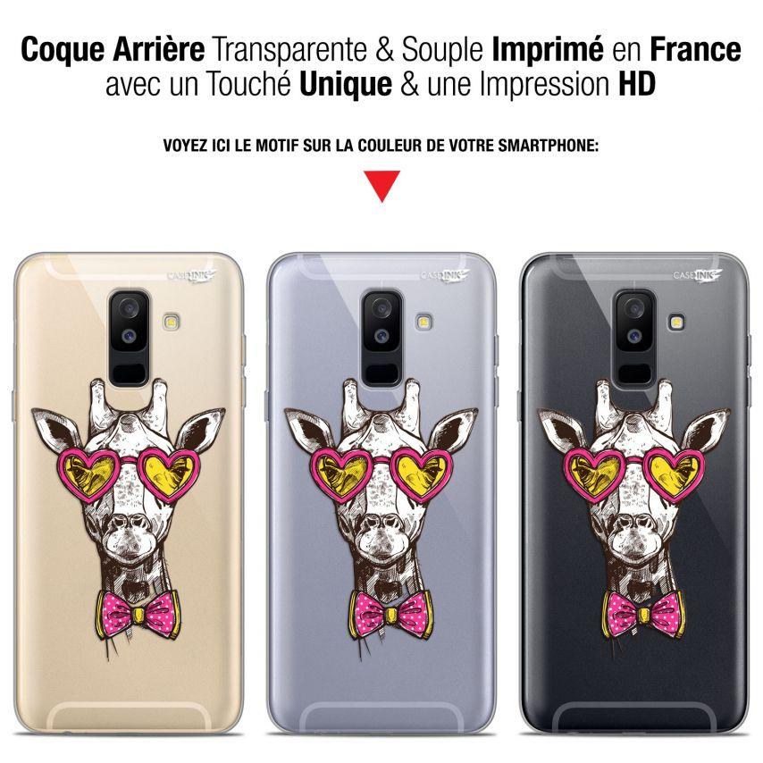 "Coque Gel Samsung Galaxy A6 PLUS 2018 (6"") Extra Fine Motif - Hipster Giraffe"