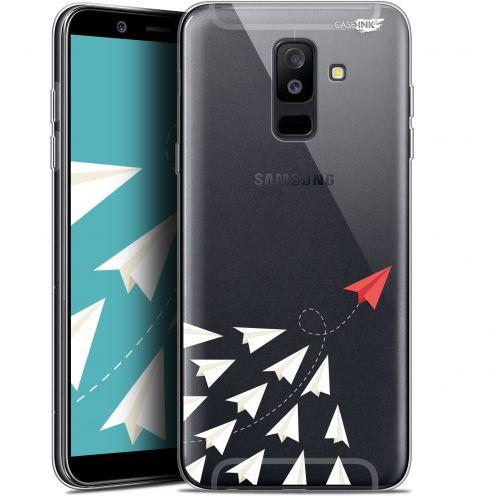 "Coque Gel Samsung Galaxy A6 PLUS 2018 (6"") Extra Fine Motif -  Papier Volant"