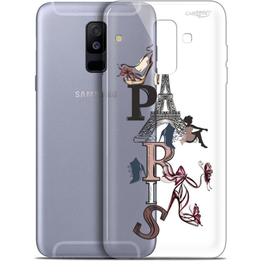"""Coque Gel Samsung Galaxy A6 PLUS 2018 (6"""") Extra Fine Motif - Stylish Paris"""