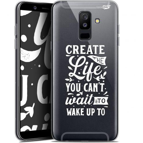 "Coque Gel Samsung Galaxy A6 PLUS 2018 (6"") Extra Fine Motif -  Wake Up Your Life"