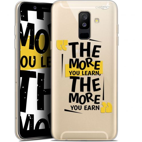 """Coque Gel Samsung Galaxy A6 PLUS 2018 (6"""") Extra Fine Motif -  The More You Learn"""
