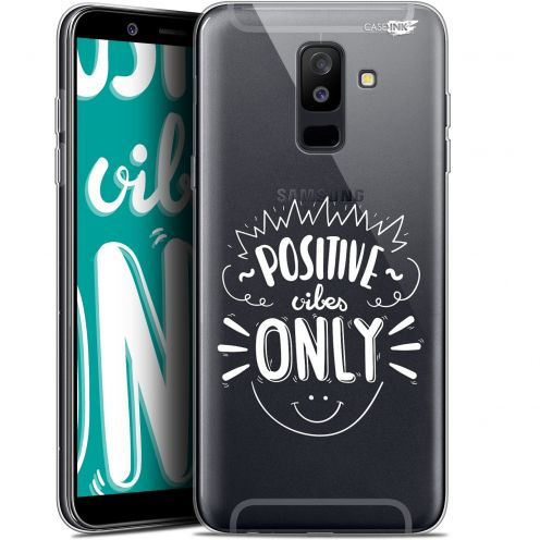 "Coque Gel Samsung Galaxy A6 PLUS 2018 (6"") Extra Fine Motif - Positive Vibes Only"