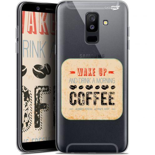 "Coque Gel Samsung Galaxy A6 PLUS 2018 (6"") Extra Fine Motif -  Wake Up With Coffee"