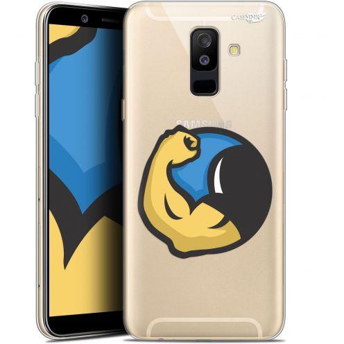 "Coque Gel Samsung Galaxy A6 PLUS 2018 (6"") Extra Fine Motif -  Monsieur Muscle"