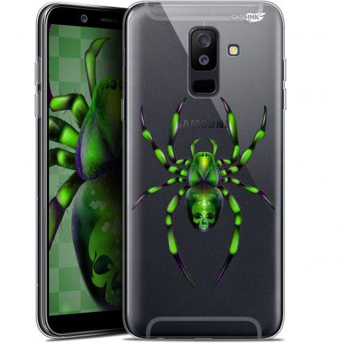 "Coque Gel Samsung Galaxy A6 PLUS 2018 (6"") Extra Fine Motif -  Arraignée Verte"