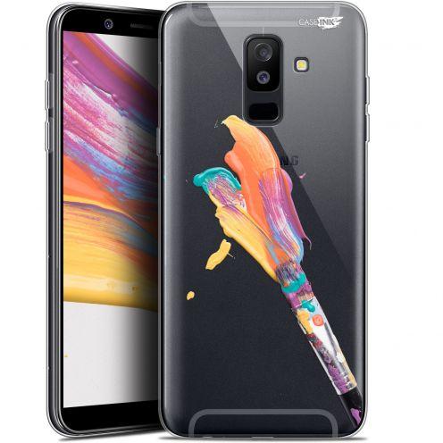 """Coque Gel Samsung Galaxy A6 PLUS 2018 (6"""") Extra Fine Motif -  Pinceau de Peinture"""