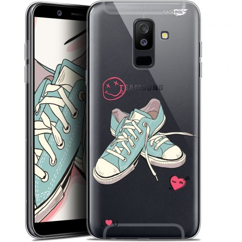 """Coque Gel Samsung Galaxy A6 PLUS 2018 (6"""") Extra Fine Motif -  Mes Sneakers d'Amour"""