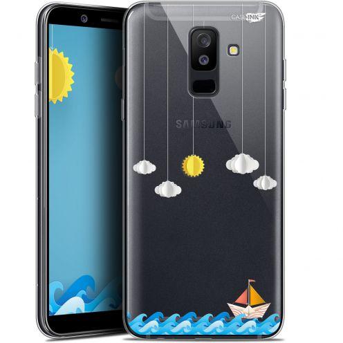 """Coque Gel Samsung Galaxy A6 PLUS 2018 (6"""") Extra Fine Motif -  Petit Bateau en Mer"""
