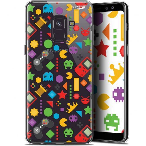 "Coque Gel Samsung Galaxy A8 (2018) A530 (5.6"") Extra Fine Motif - PacMan"