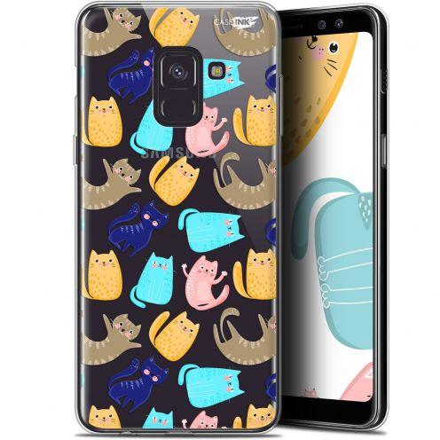 """Coque Gel Samsung Galaxy A8 (2018) A530 (5.6"""") Extra Fine Motif - Chat Danse"""