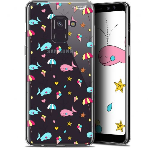 "Coque Gel Samsung Galaxy A8 (2018) A530 (5.6"") Extra Fine Motif - Baleine à la Plage"