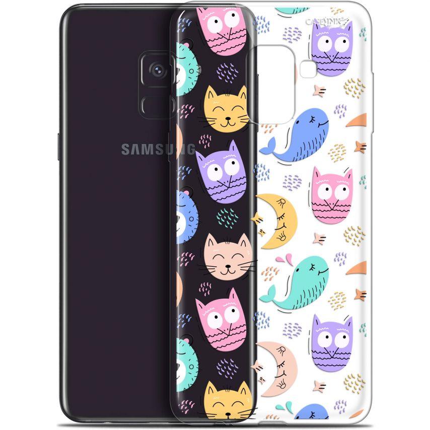 """Coque Gel Samsung Galaxy A8 (2018) A530 (5.6"""") Extra Fine Motif - Chat Hibou"""
