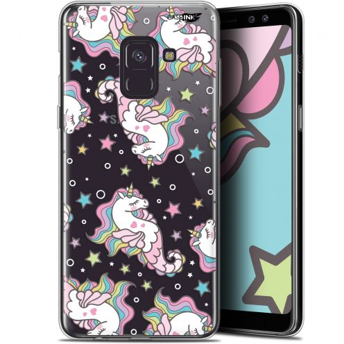 "Coque Gel Samsung Galaxy A8 (2018) A530 (5.6"") Extra Fine Motif - Licorne Dormante"