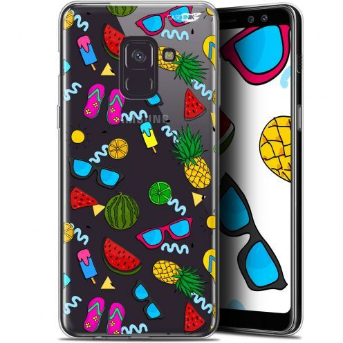 "Coque Gel Samsung Galaxy A8 (2018) A530 (5.6"") Extra Fine Motif - Summers"