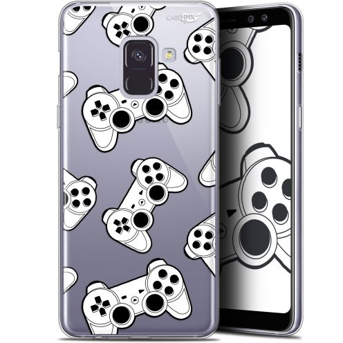 "Coque Gel Samsung Galaxy A8 (2018) A530 (5.6"") Extra Fine Motif -  Game Play Joysticks"