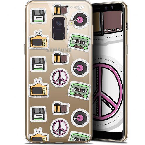 "Coque Gel Samsung Galaxy A8 (2018) A530 (5.6"") Extra Fine Motif - Vintage Stickers"