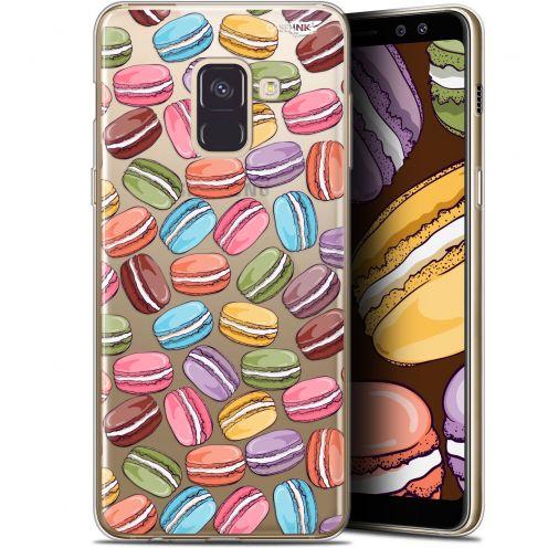 "Coque Gel Samsung Galaxy A8 (2018) A530 (5.6"") Extra Fine Motif - Macarons"