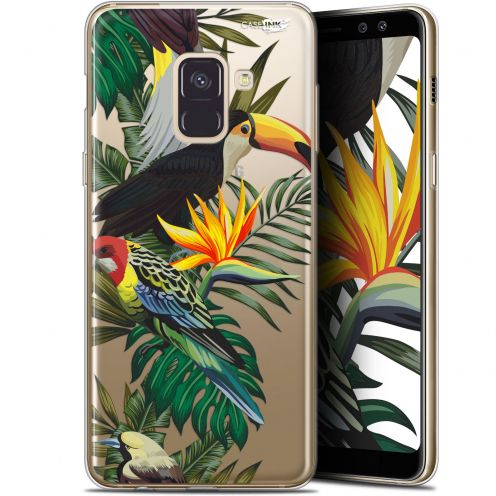 "Coque Gel Samsung Galaxy A8 (2018) A530 (5.6"") Extra Fine Motif -  Toucan Tropical"