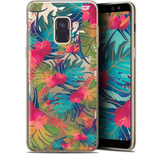 "Coque Gel Samsung Galaxy A8 (2018) A530 (5.6"") Extra Fine Motif - Couleurs des Tropiques"