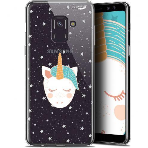"""Coque Gel Samsung Galaxy A8 (2018) A530 (5.6"""") Extra Fine Motif - Licorne Dors"""