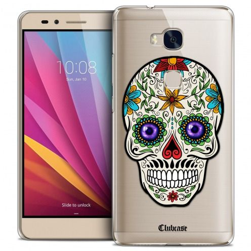 Coque Crystal Honor 5X Extra Fine Skull - Maria's Flower