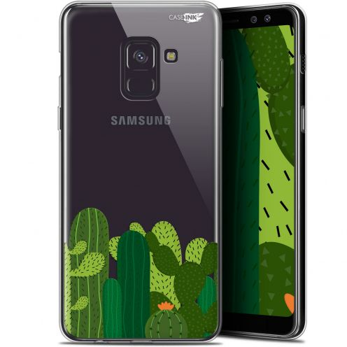 "Coque Gel Samsung Galaxy A8 (2018) A530 (5.6"") Extra Fine Motif - Cactus"