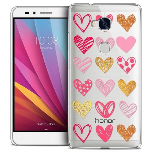 Coque Crystal Honor 5X Extra Fine Sweetie - Doodling Hearts