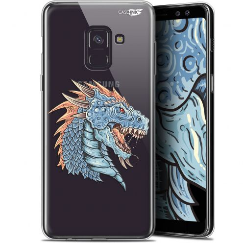 "Coque Gel Samsung Galaxy A8 (2018) A530 (5.6"") Extra Fine Motif -  Dragon Draw"