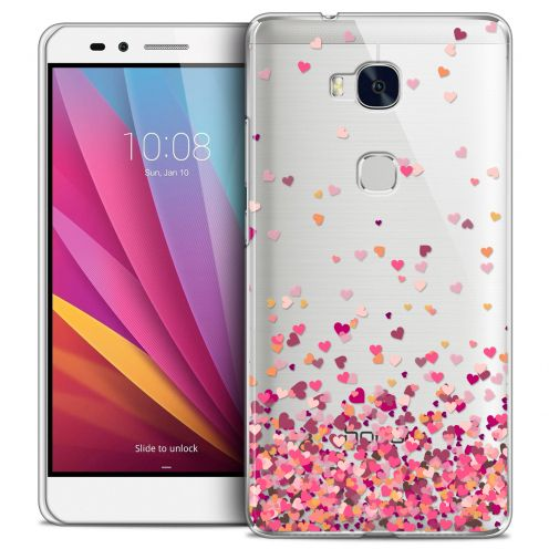 Coque Crystal Honor 5X Extra Fine Sweetie - Heart Flakes