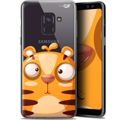 "Coque Gel Samsung Galaxy A8 (2018) A530 (5.6"") Extra Fine Motif -  Cartoon Tiger"