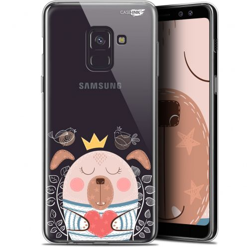"Coque Gel Samsung Galaxy A8 (2018) A530 (5.6"") Extra Fine Motif -  Sketchy Dog"