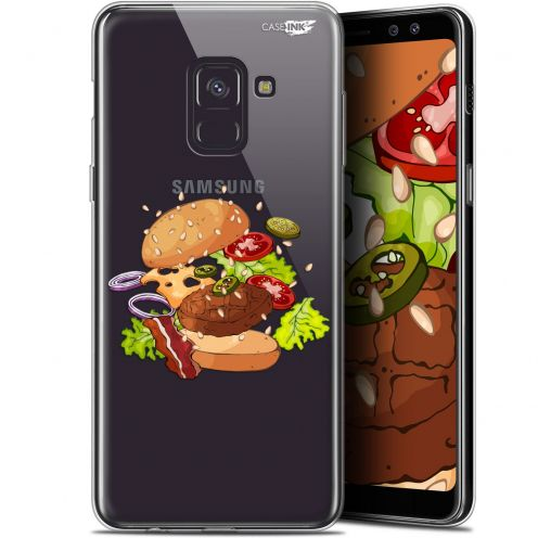 "Coque Gel Samsung Galaxy A8 (2018) A530 (5.6"") Extra Fine Motif -  Splash Burger"