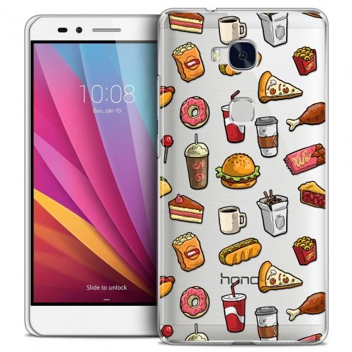 Coque Crystal Honor 5X Extra Fine Foodie - Fast Food