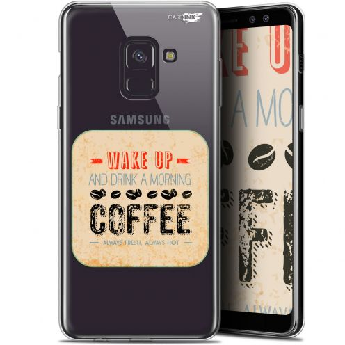 "Coque Gel Samsung Galaxy A8 (2018) A530 (5.6"") Extra Fine Motif -  Wake Up With Coffee"