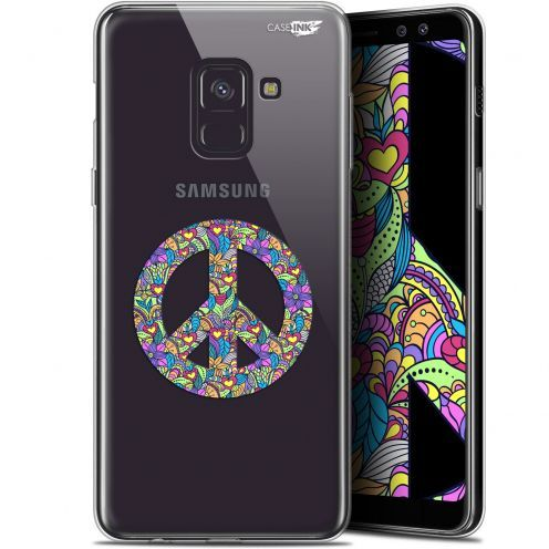 "Coque Gel Samsung Galaxy A8 (2018) A530 (5.6"") Extra Fine Motif -  Peace And Love"