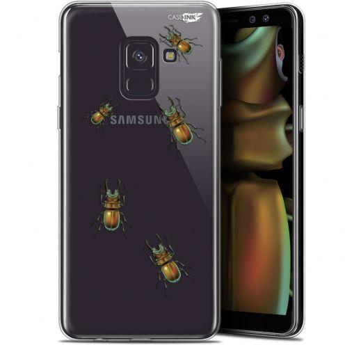 """Coque Gel Samsung Galaxy A8 (2018) A530 (5.6"""") Extra Fine Motif - Petits Scarabés"""